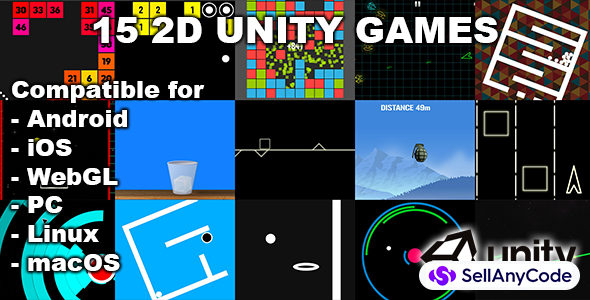15 2D Unity Games Bundle