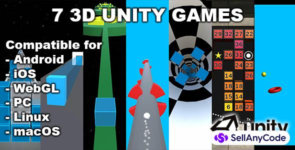7 3D Unity Games Bundle