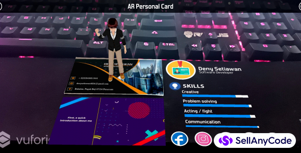 AR Personal Card Lite Version