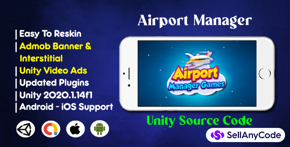 Airport Manager Games Source Code Admob Unity Ads