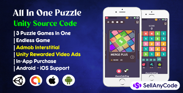 All In One Puzzle Game Source Code (Admob + Unity Ads + IAP)