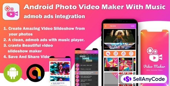 Android Photo Video Maker With Music : Slideshow Maker