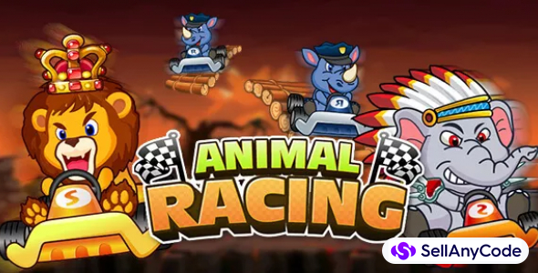 Animal Racing complete game + Racing Cartoon Game Support Unity 2017 64Bit