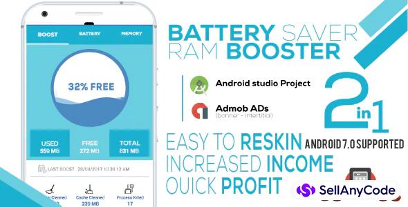 Battery Saver & RAM Booster Pro + Admob