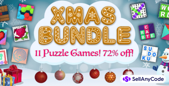Bizzy Bee's Christmas Unity Bundle Offer: 11 Puzzle Games