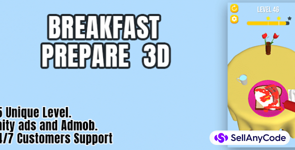 Breakfast prepare 3D