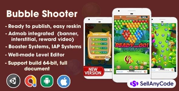 Bubble Shooter Unity Source Code