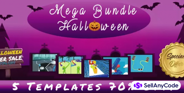 Casual Games Halloween Mega Unity Bundle: 5 Top Trending Games