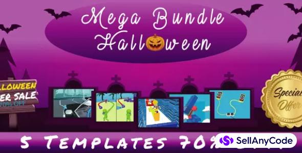Casual Games Halloween Mega Unity Bundle: 5 Top Trending Games