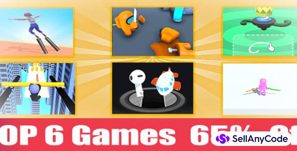 Casual Games Mega Bundle: 6 Top Trending Unity Games Templates -65% OFF!