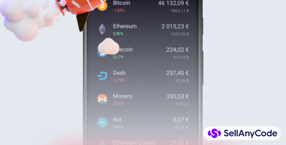 Cryptocurrency Tracker App 2021 - Android Source Code