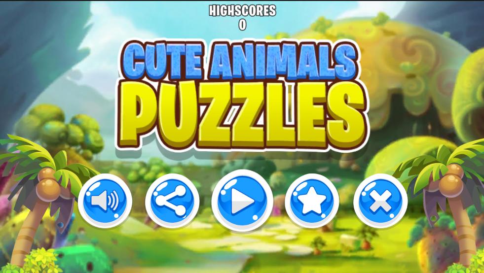 Cute Animal Puzzle Kids
