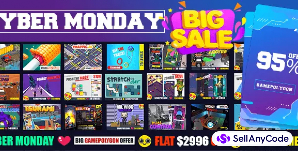 CyberMonday GamePolygon SUPER Bundle: 25 AAA Hypercasual Games