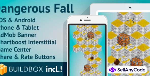 Dangerous Fall: BuildBox Game (Easy Reskin)