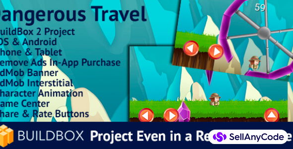 Dangerous Travel: BuildBox Game Template (Easy Reskin)