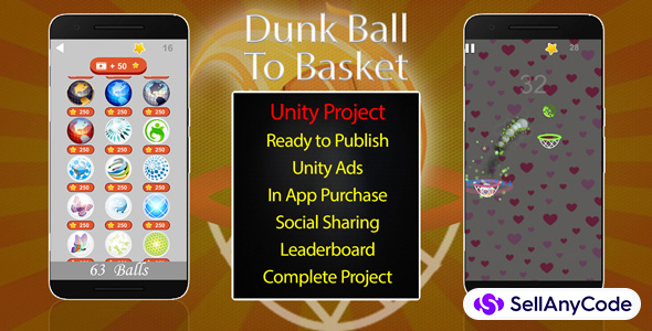 Dunk Ball To Basket