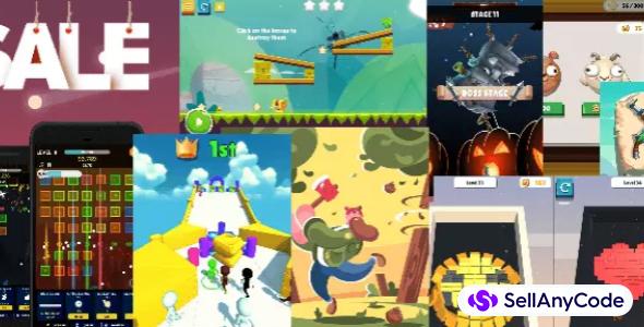 FMGames Hyper Casual MEGA Bundle: 23 High-Quality Unity Games