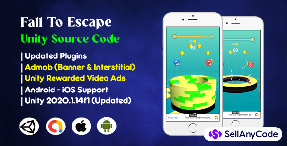 Fall To Rescue Unity Source Code Admob Unity Ads