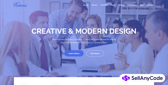 Famous Digital Corporate HTML5 Template