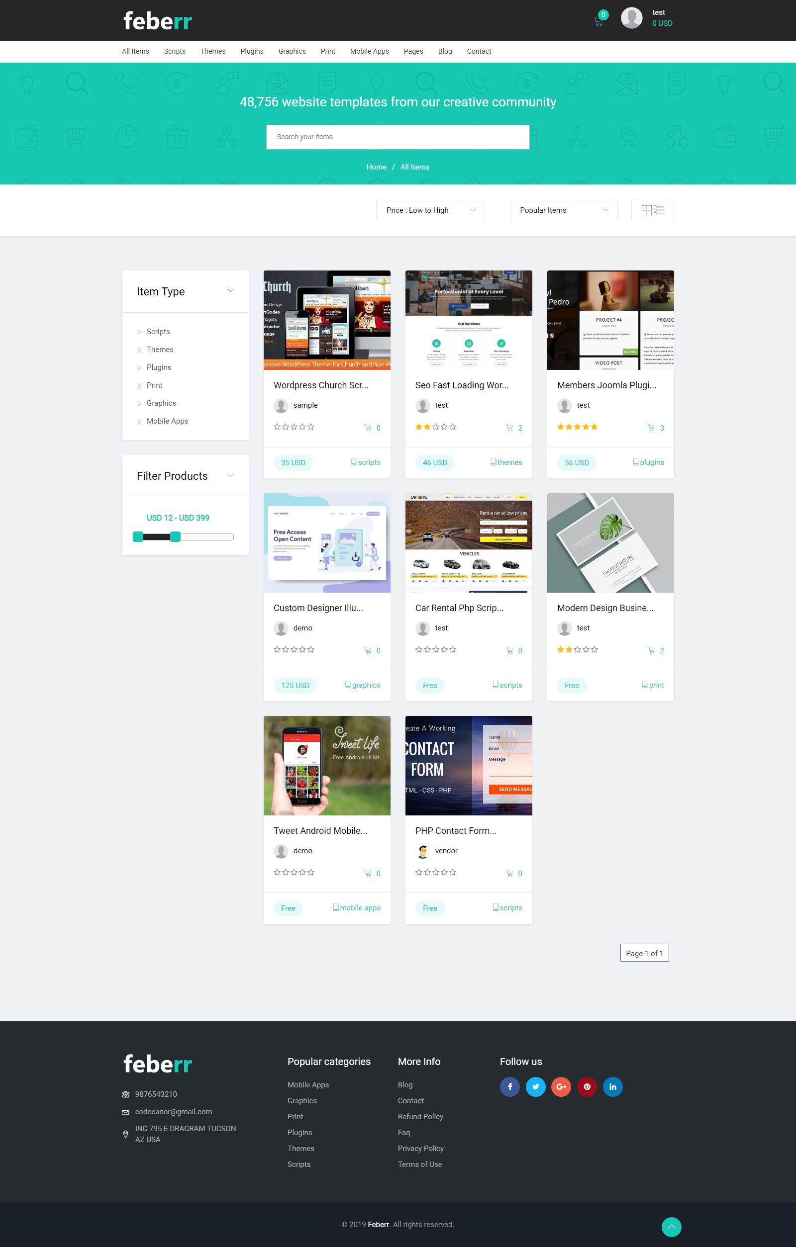 Feberr Multivendor Digital Products Marketplace