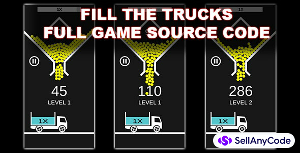 Fill The Trucks - Unity Source Code With AdMob Ads