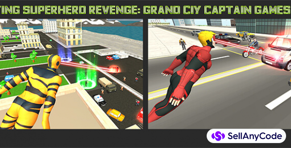 Flying Superhero Revenge: Grand City Captain Game