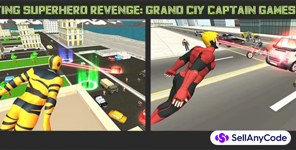 Flying Superhero Revenge: Grand City Captain Games