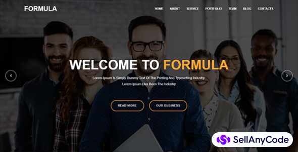Formula Material Design Agency Template