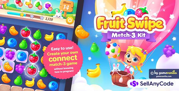 Fruit Swipe Match 3 Kit