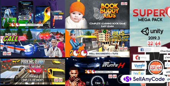 GBS Studio's Super 6 Mega Bundle: 6 Unity 2019 High-End Games -88% OFF!
