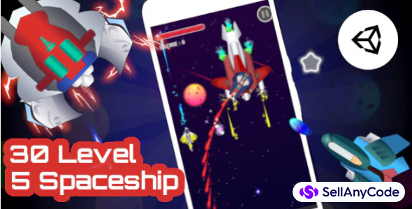 Galaxy Battle - Unity Complete Project With Admob Ad for Android and iOS