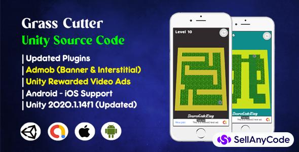 Grass Cutter Unity Source Code (Admob + Unity Ads)
