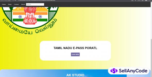 HTML e-pass (tamil nadu)