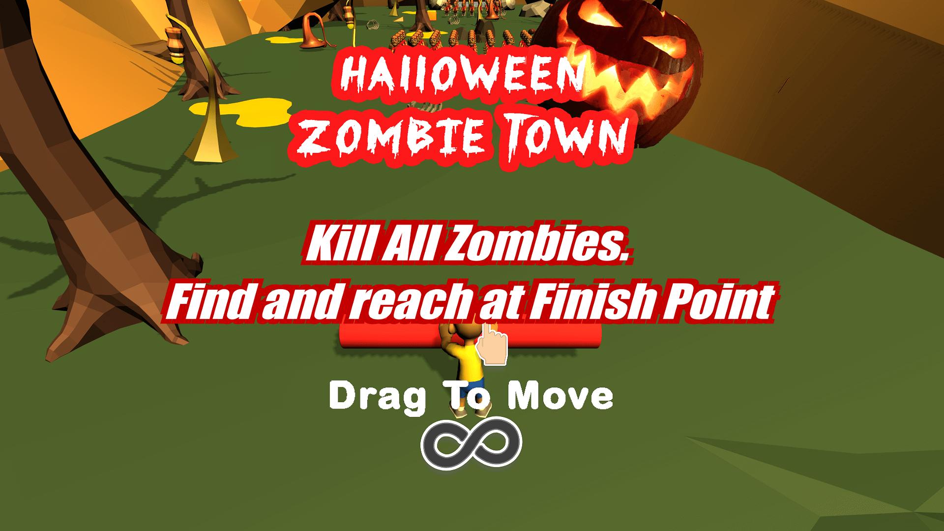Halloween Toonie Scary Zombie Town 64 Bit Source Code