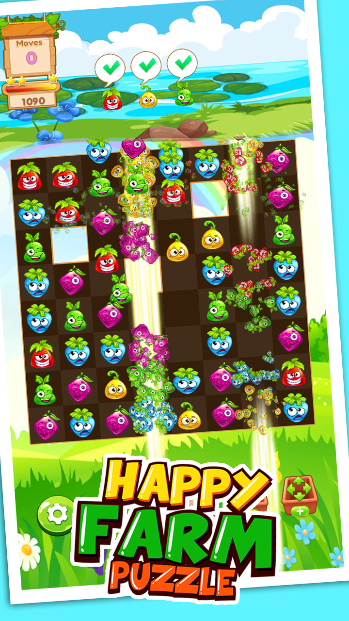 Match 3: Happy rush Puzzle. Farm 3 Match Game Template Unity. Earning money every month < include graphics>