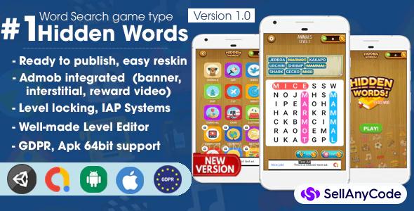 Hidden Words Unity Source Code
