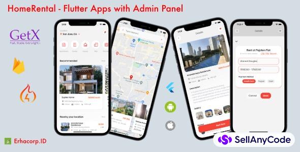 HomeRental - Flutter App with Chat & Admin Panel