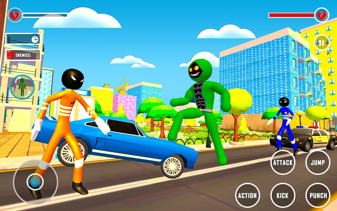 Incredible Monster Hero Stickman City Battle 2021