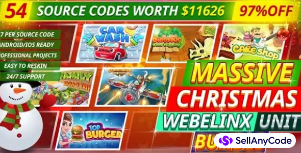 Massive Webelinx Christmas Unity Bundle: 54 Premium Quality Games