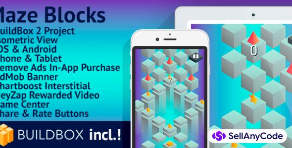 Maze Blocks: BuildBox Game Template (Easy Reskin)