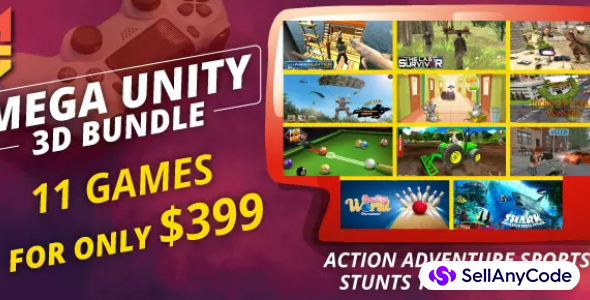 Mini Giant Mega Unity Bundle Offer: 11 Premium Games for only