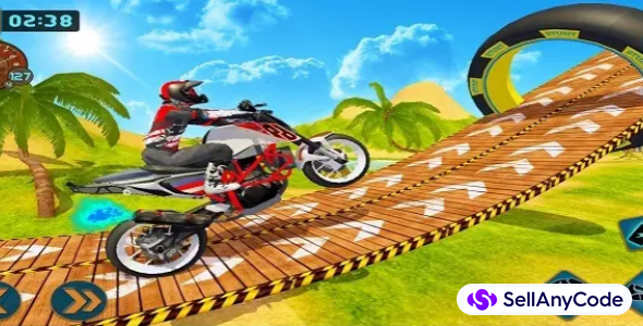 Moto Beach Impossible Track Stunt : Bike Stunt 2021