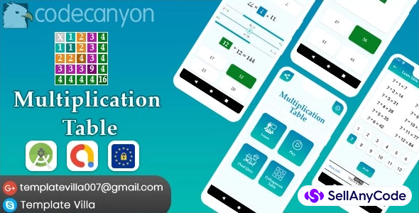 Multiplication Table, Learn and Play