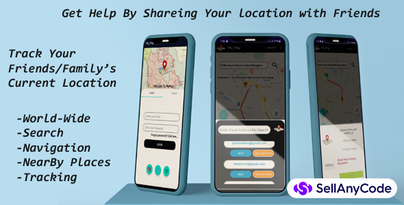 My Map Ready To Go - Locate your Friends and Family Locations .Get Help From your Friends