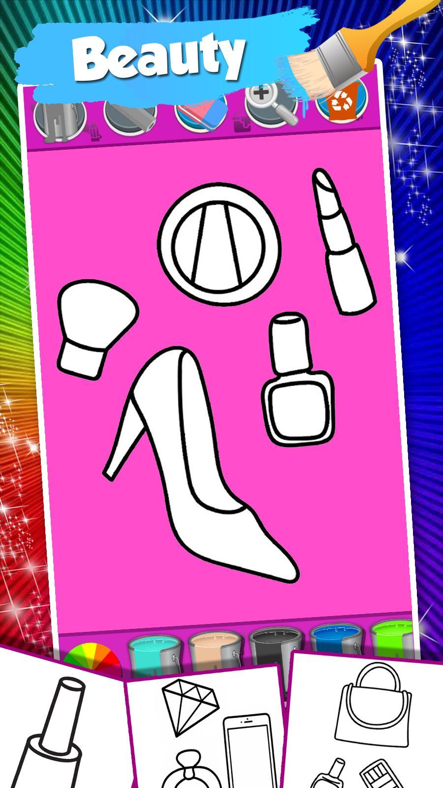 Nail Drawing Book Fashion Coloring Pages
