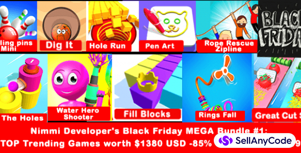 Nimmi Developer's Black Friday MEGA Bundle #1: 10 TOP Trending Games