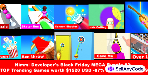 Nimmi Developer's Black Friday MEGA Bundle #2: 10 Trending Games