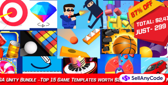 Nimmi Developer's MEGA Unity Bundle –Top 15 Game Templates