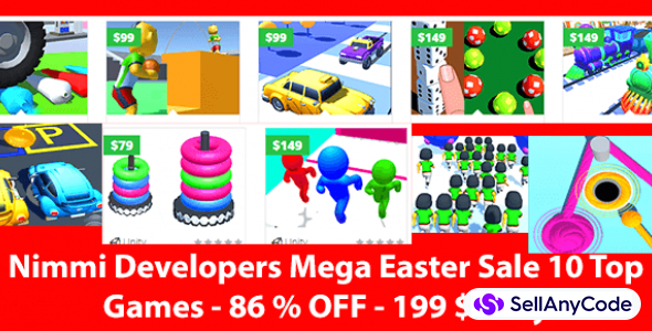 Nimmi Developers Mega Easter Unity Bundle: Top 10 Games