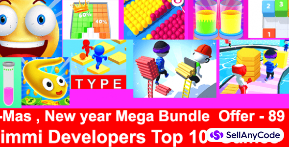 Nimmi Developers Xmas Mega Unity Bundle: Top 10 Games with -89% OFF NOW!